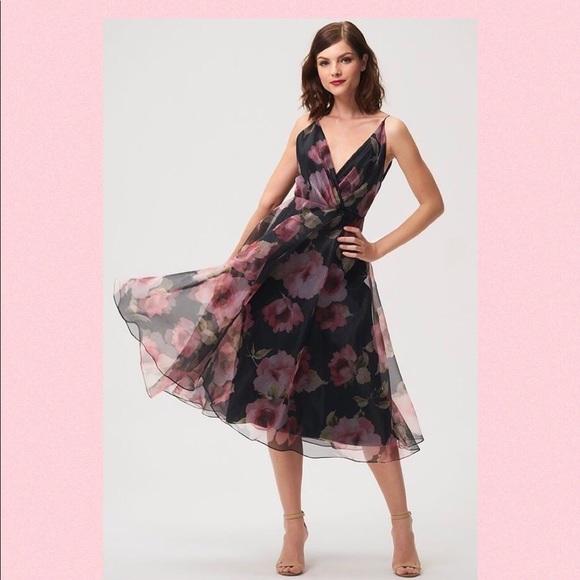 75493c1e7cc5 Jenny Yoo Dresses | Sabrina Tea Length Floral Organza Dress | Poshmark
